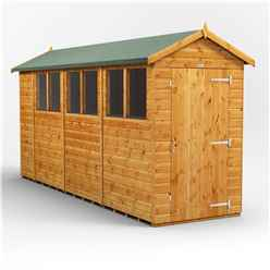 14ft x 4ft Premium Tongue and Groove Apex Shed - Single Door - 6 Windows - 12mm Tongue and Groove Floor and Roof