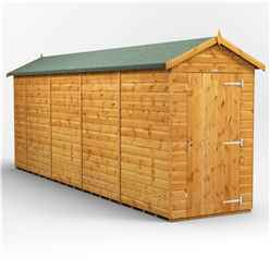 18ft x 4ft Premium Tongue and Groove Apex Shed - Single Door - Windowless - 12mm Tongue and Groove Floor and Roof