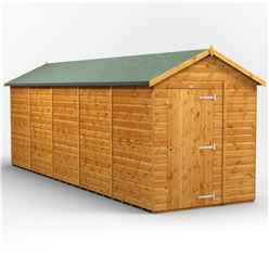 20ft x 6ft Premium Tongue and Groove Apex Shed - Single Door - Windowless - 12mm Tongue and Groove Floor and Roof