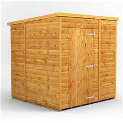 6ft x 6ft Premium Tongue and Groove Pent Shed - Single Door - Windowless - 12mm Tongue and Groove Floor and Roof