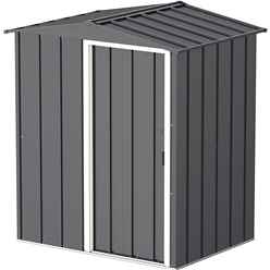 5ft x 4ft Value Apex Metal Shed - Anthracite Grey (1.62m x 1.22m)