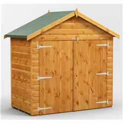 6ft x 4ft  Premium Tongue and Groove Apex Bike Shed - 12mm Tongue and Groove Floor and Roof