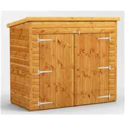 6ft x 3ft  Premium Tongue and Groove Pent Bike Shed - 12mm Tongue and Groove Floor and Roof