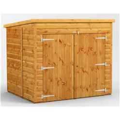6ft x 5ft  Premium Tongue and Groove Pent Bike Shed - 12mm Tongue and Groove Floor and Roof