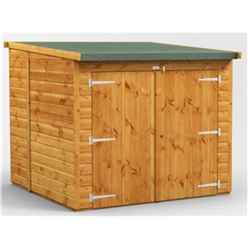 6ft x 6ft  Premium Tongue and Groove Reverse Pent Bike Shed - 12mm Tongue and Groove Floor and Roof