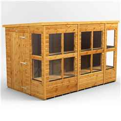 10ft x 6ft Premium Tongue and Groove Pent Shed - Single Door - 14 Windows - 12mm Tongue and Groove Floor and Roof