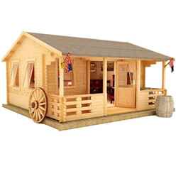 20ft x 14ft Leo 44mm Log Cabin (19mm Tongue and Groove Floor and Roof) (5950x4150)