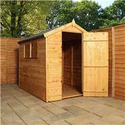 6ft x 4ft (1.79m x 1.31m) Tongue & Groove Apex Shed With Single Door + 2 Windows (10mm Solid OSB Floor)