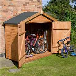 Bike Store 7ft x 3ft (2.01m x 0.82m) Premier Tongue & Groove With Double Doors (10mm Solid OSB Floor)