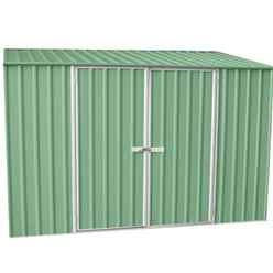 10 x 5 (3m x 1.5m) Space Saver Pale Eucalyptus Metal Shed (3m x 1.52m)