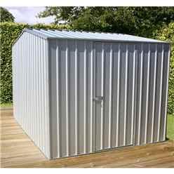 8ft x 10ft (2.3m x 3m) Premier Zinc Metal Shed (2.26m x 3m)