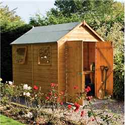 8ft x 6ft Rowlinson Modular Tongue & Groove Shed  (11mm Solid OSB Floor)