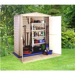 5ft x 3ft Duramax Plastic PVC Shed With Steel Frame (1.73m x 0.97m) + Floor