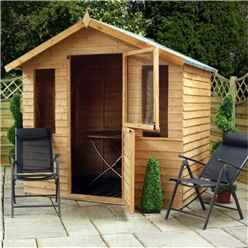 7ft x 5ft (2.12m x 1.48m) Newmarket Overlap Summerhouse + Stable Door (10mm Solid OSB Floor)