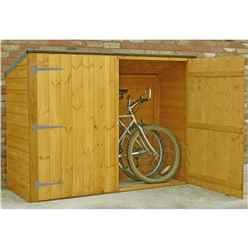 6ft x 2ft  (1.85m x 0.63m) - Tongue & Groove - Pent Bike Store - Double Doors - No Floor
