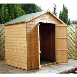 5ft x 7ft Windowless Tongue & Groove Apex Shed With Double Doors (10mm Solid OSB Floor & Roof)