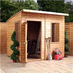 8ft x 6ft Tongue & Groove Curved Roof Shed (12mm T&G Floor & Roof)