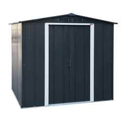 8ft x 6ft Anthracite Metal Shed (2.61m x 1.82m)