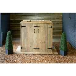 Double Pressure Treated Wheelie Bin Store - 240 Litre Bins