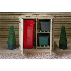 Wheelie Bin & Recycling Box Chest Store - 1 x Wheelie Bin + 2 x Recycling Boxes