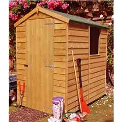 6ft x 4ft Dip Treated Overlap Apex Garden Shed + 1 Window (10mm Solid OSB Floor)