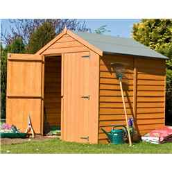 6ft x 6ft Dip Treated Overlap Apex Windowless Garden Shed (10mm Solid Osb Floor)
