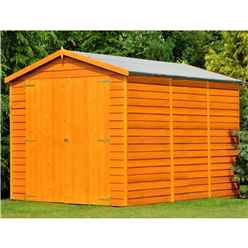 12ft x 6ft  (3.59m x 1.82m) - Dip Treated Overlap - Apex Garden Shed - Windowless - Double Doors - 10mm Solid OSB Floor