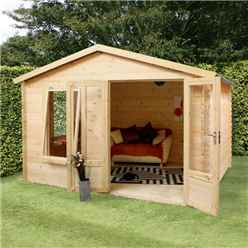 3.29m x 2.98m Vicky Log Cabin (19mm T&G) + + Free Floor & Felt & Safety Glass