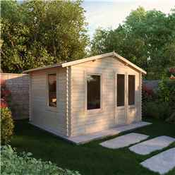 3.43m x 2.70m Vicky Log Cabin (19mm T&G) + + Free Floor & Felt & Safety Glass