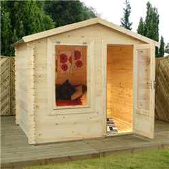 2.50m x 2.00m Vicky Log Cabin (19mm T&G) + Free Floor & Felt & Safety Glass