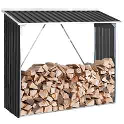 6ft x 2ft Premier Anthracite Metal Woodstore (1.66m x 0.62m)