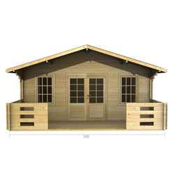 5m x 3m PREMIER MOSCOW Log Cabin - Double Glazing - 44mm Wall Thickness