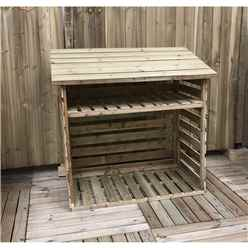 4FT x 2FT PRESSURE TREATED TONGUE & GROOVE LOG STORE