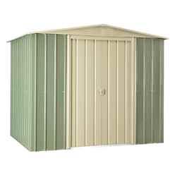 8ft x 6ft Premier EasyFix Mist Green Apex Shed (2.33m x 1.75m)