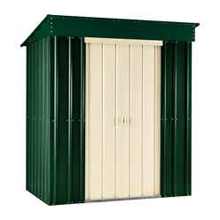 8ft x 3ft Premier EasyFix Heritage Green Pent Shed (2.46m x 0.92m)