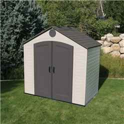 **OOS - DUE BACK 27TH MAY** 8 x 5 Life Plus Plastic Apex Shed With Plastic Floor (2.43m x 1.52m)