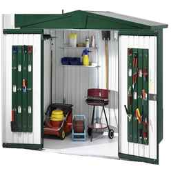 6ft x 3ft Heavy Duty Dark Green Metal Shed (1.72m x 0.84m)