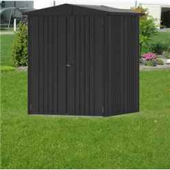 6ft x 5ft Heavy Duty Dark Grey Metallic Metal Shed (1.72m x 1.56m)