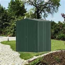 6ft x 5ft Heavy Duty Dark Green Metal Shed (1.72m x 1.56m)