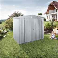 6ft x 5ft Heavy Duty Silver Metallic Metal Shed (1.72m x 1.56m)