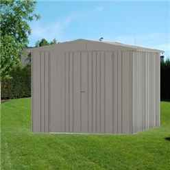 8ft x 10ft Heavy Duty Quartz Grey Metal Shed (2.44m x 3m)