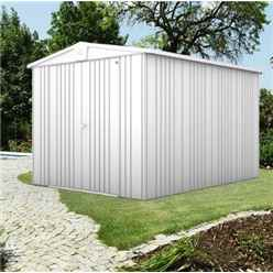 8ft x 10ft Heavy Duty Metallic Silver Metal Shed (2.44m x 3m)