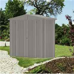 8ft x 3ft Heavy Duty Quartz Grey Metal Shed (2.44m x 0.84m)