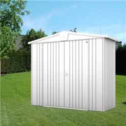 8ft x 3ft Heavy Duty Metallic Silver Metal Shed (2.44m x 0.84m)