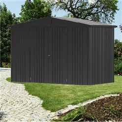 10ft x 5ft Heavy Duty Dark Grey Metallic Metal Shed (3.16m x 1.56m)