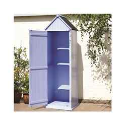 2ft x 2ft Blue Salcombe Beach Style Apex Sentry Shed