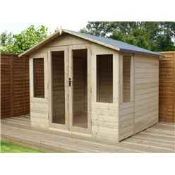 8ft x 8ft Summerhouse Pressure Treated Tongue & Groove