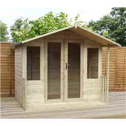 8ft x 7ft Summerhouse Pressure Treated Tongue & Groove With Veranda