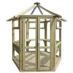 9ft x 8ft Summer Glass House - Assembled