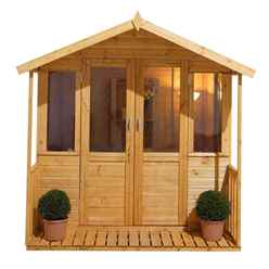 7ft x 7ft Willow Summerhouse - Assembled